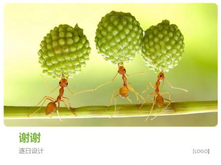 【清新可爱的小蚂蚁ppt模板】-pptstore