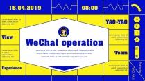 【蓝亮色】蓝黄亮色线条潮工作汇报PPT模板