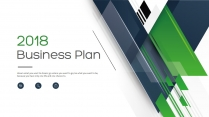 【完整框架】现代创意几何商业计划书策划书模板10