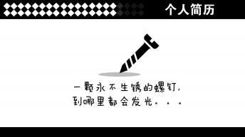 【简约时尚】一页纸求职简历PPT模板(4色)