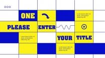 【蓝亮色】蓝黄亮色线条潮工作汇报PPT模板示例3