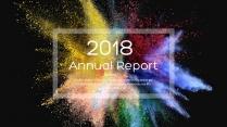 创意彩色粉末总结报告工作计划商务策划模板02