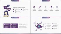 多色渐变创意企业工作模板第十四弹(紫色风暴版)示例5