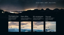 【自然山峰】大气风景夜景深色商务计划年终策划模版示例6