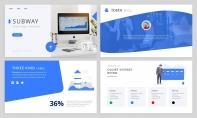 【潮流商务】动态·商务蓝高品质互联网科技PPT模板