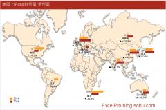 世界地图上的mini柱形图条形图-模板+教程+视频示例4