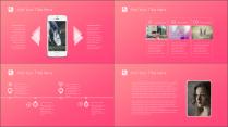 【铭品巨制】粉色淡雅时尚商务汇报模板示例3