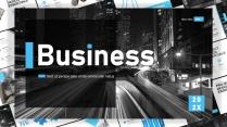 商務 雜志風 簡約 # 藍黑多功能數據分析模板