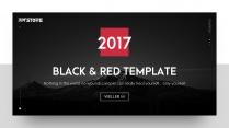 【动画PPT】红黑大气商务模板(3套配色)42.0