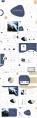 【商務】藍色金色優雅商務通用模板44示例3
