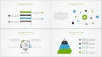 【蓝绿双色微立体商务图表02】创意关系图表25页