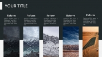 【白色冬季】唯美自然风格报告策划计划模板示例4