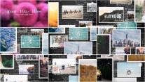 【动画】简洁的相册照片墙三维瀑布流动画PPT模板3示例3