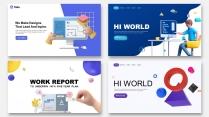 【四套合集】3D创意科技互联网公司企业项目工作汇报
