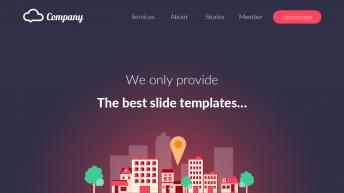 【精致高端】时尚WEB UI插画风格商务演示模板