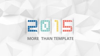 【动态】2015新扁平大气商务年终总结PPT模版2