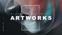 【抽象空间】创意3D空间总结报告商务回报工作计划模