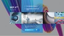 【3D炫彩波浪】艺术智慧时尚创意大气商务文化模板示例4