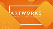 【抽象藝術】現代商務總結計劃多用途模板