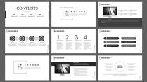 简约时尚黑公司宣传活动策划团队建设员工培训总结汇报示例3