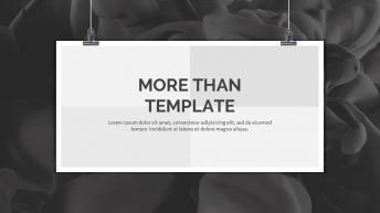 海报展示欧美简洁风格PPT模板