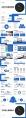 【汇报利器】4套蓝色极简风年终总工作汇报PPT合集示例6