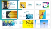 【渐变】蓝色极简商务高端大气通用PPT模板示例4