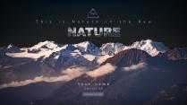 【自然特色】黑紫山峰风景高端大气商务报告ppt示例2