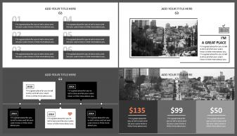 网页风格·欧美·简约·大气商务模板示例4