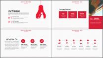 红色工作总结PPT通用模板示例4