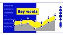 【蓝亮色】蓝黄亮色线条潮工作汇报PPT模板示例6
