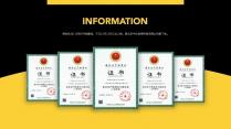 【商务】黑黄黑红商务汇报总结通用模板2示例4
