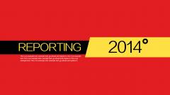 动态至简实用新简约2014年中总结信息图表模板14