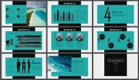 简约高端展览展示企业推介总结汇报商务演示培训讲座示例5