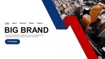 【商務大殺器】簡約紅藍公司企業品牌工作匯報PPT