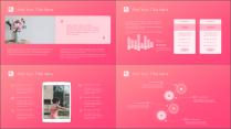 【铭品巨制】粉色淡雅时尚商务汇报模板示例4