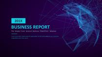 【科技点线】大气简约通用商务报告模板07-蓝色示例2