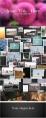 【动画】简洁的相册照片墙三维瀑布流动画PPT模板3示例4