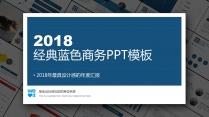 【杂志风格】经典蓝色商务PPT模板