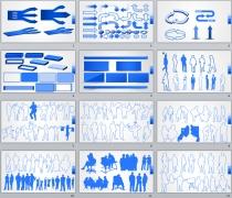 商务元素21套-PPTSTORE高端商务图表系列