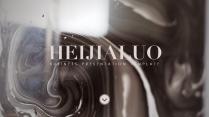 【商务英伦】黑金大理石杂志创意视觉严肃优雅模版