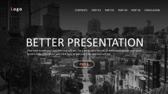 网页风格·欧美·简约·大气商务模板