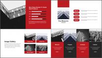 【極致商務】簡約畫冊風企業公司品牌介紹工作PPT示例3