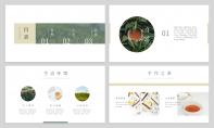 【茶与道】中式极简品牌企业文化介绍PPT模板示例3
