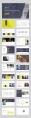 【精致商务】暖黄色商务设计模板示例6