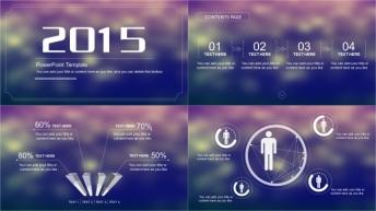 2015 IOS简约实用年终汇报模板(8种背景)