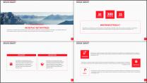 大气美观红色企业公司工作总结PPT模板二示例3