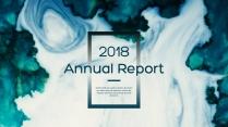 蓝色水彩高品质总结报告工作计划企业策划模板