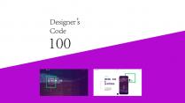 【Code 100系列】紫色创意版式PPT