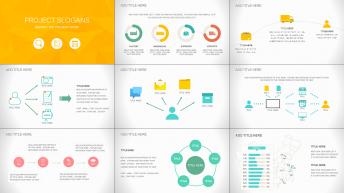 简约实用扁平化商务策划、工作汇报模板四套合集示例6